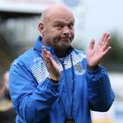 Big applause: David Jeffrey was delighted by the win and clean sheet