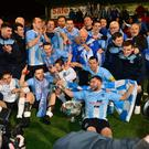 Ballymena United celebrate their League Cup success