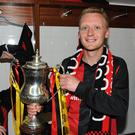 Historic win: Stephen McBride with the 2012 Setanta Cup