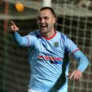 Breakthrough: Kyle Owens set Ballymena on their way