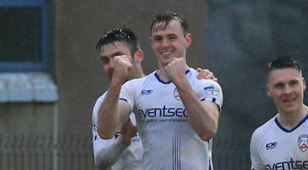 On target: Coleraine goal ace Darren McCauley