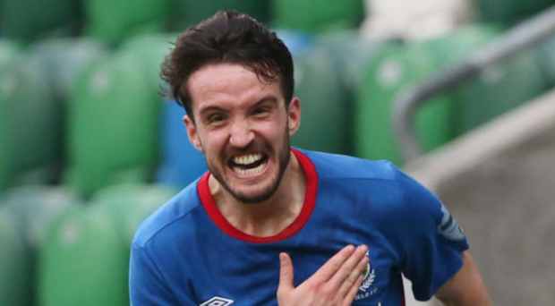 Josh Robinson is all smiles after putting Linfield in front