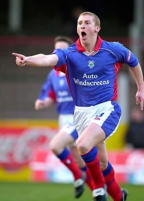 Pointing way: Midfield maestro Tony Gorman in action for Linfield