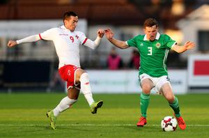New challenge: NI Under-21 ace Bobby Burns is relishing his move to League Two side Barrow