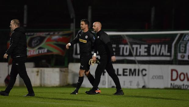 Big moment: Paddy McLaughlin lauded Richard Brush's contribution to Cliftonville's win on Tuesday night