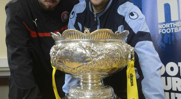 Clash of the Titans: Joe Gormley and Matthew Tipton are both hungry to keep hold of the Wasp Solutions League Cup