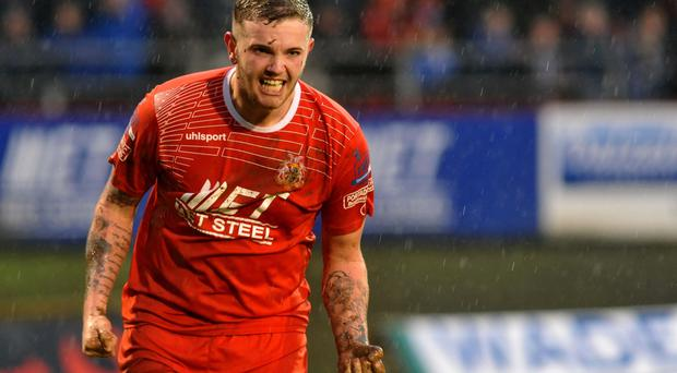Wanted man: Darren Murray has his admirers at Cliftonville