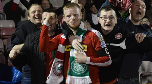 Cliftonville hero: George McMullan has decided to retire