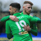 Potential: Joe Gormley and Rory Donnelly have not yet clicked into gear since returning to Cliftonville