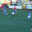 Claims: Cliftonville wanted a penalty for this incident