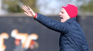 Encouraged: Cliftonville boss Barry Gray