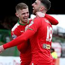 Hot shots: Joe Gormley and Rory Donnelly hit two each