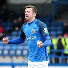 Double up: Stephen Murray helped Glenavon to points record