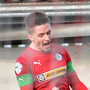 Bright spark: Ryan Curran celebrates his winner for Reds