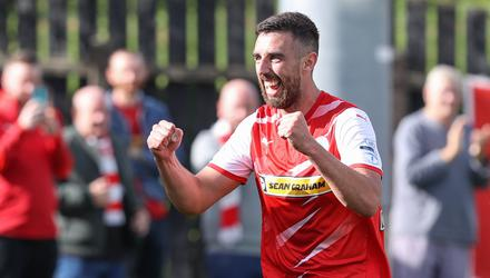 Silver lining: Cliftonville striker Joe Gormley is determined to unlock the Solitude trophy cabinet. Credit: Desmond Loughery/Pacemaker Press
