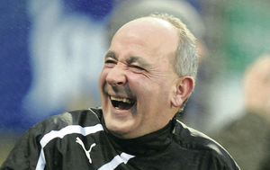Happy boss: Tommy Breslin  has the biggest smile in the final week