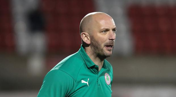 Rallying call: Cliftonville boss Paddy McLaughlin wants more from his side