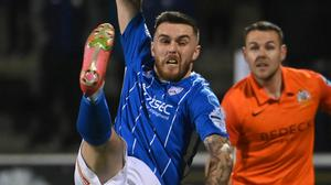 Shaping up: Cathair Friel has been working on his physicality at Coleraine. Credit: INPHO/Stephen Hamilton