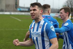 Glory trail: Stephen Lowry and Coleraine were in contention for a treble when the shutdown struck