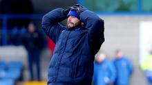 Tough times: Gary Hamilton saw his Glenavon side suffer an early Irish Cup exit this weekend