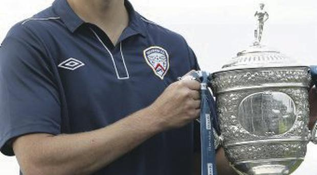 Oran Kearney from Coleraine FC at the launch of the 2013/14 Danske Bank Premiership season at New Forge Country Club