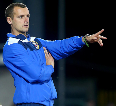 Eye on prize: Coleraine manager Oran Kearney is hoping his players can collect some silverware in the League Cup