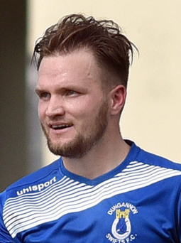 Ryan Harpur scored a hat-trick for Dungannon