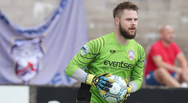 In hand: Chris Johns is in awe of Coleraine's quality options