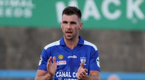 Back up front: Declan Carville has moved forward for Newry