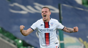 On target: Aaron Canning helped Coleraine into the Kearney's League Cup final