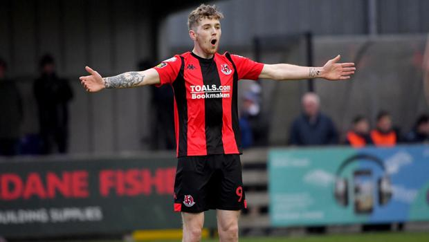 Finishing touch: Crusaders frontman Jamie McGonigle will face his old side Coleraine in Saturday's final