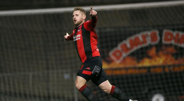 In-form: David Cushley scored in midweek League Cup tie