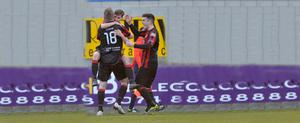 Whyte knight: Jordan Owens and Diarmuid O'Carroll hail Crusaders' hat-trick hero Gavin Whyte