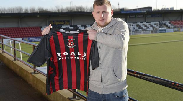 On the move: Ballymena's David Cushley will be a Crusaders player next season after agreeing a three-year pre-contract deal with the Premiership champions