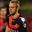 Digging deep: Crusaders midfielder Richard Clarke