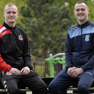 Brothers reunited: Jordan and Kyle Owens will be on opposing sides when Crusaders wrestle with Ballymena