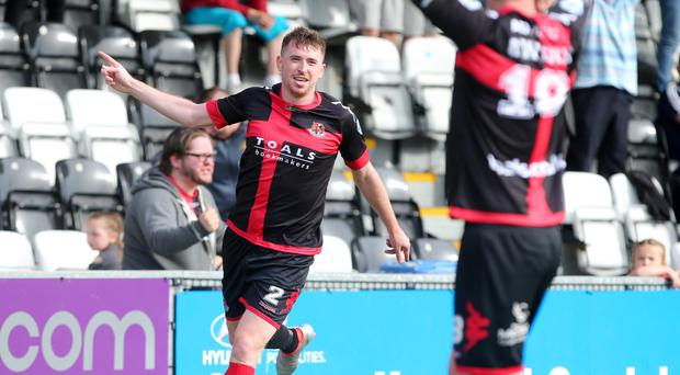 Major warning: Crusaders defender Billy Joe Burns is expecting a difficult afternoon when Glenavon visit Seaview