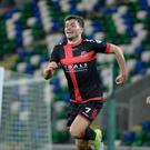 Battle ready: Philip Lowry expects Crusaders to face a wounded Linfield at Windsor tomorrow