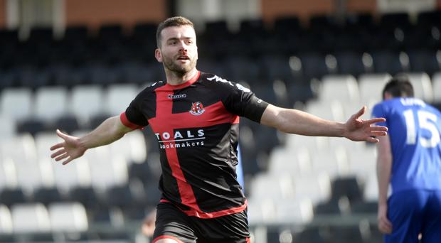 Captain marvel: Colin Coates headed Crusaders into the lead