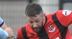 Early boost: Crusaders' Rory Patterson opens the scoring