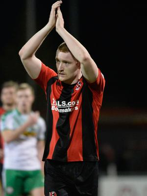 Big moment: Rodney Brown says the League Cup final against Coleraine at Windsor Park tonight is his biggest game so far in a Crusaders shirt