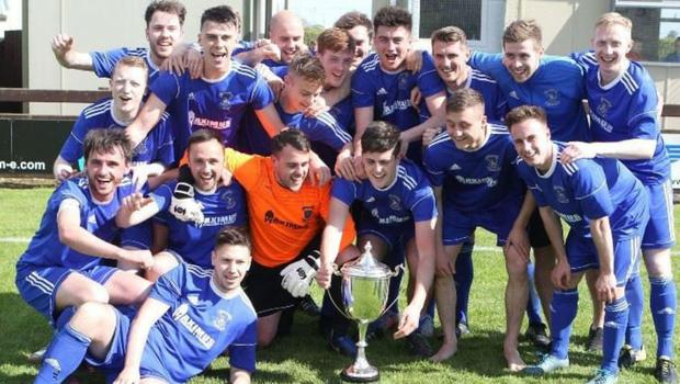 Looking up: Dollingstown have been automatically promoted