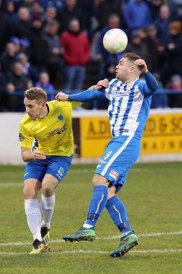 Derby mission: Jonny Addis (left) is eyeing victory over fierce rivals Coleraine to avoid getting drawn closer to the bottom