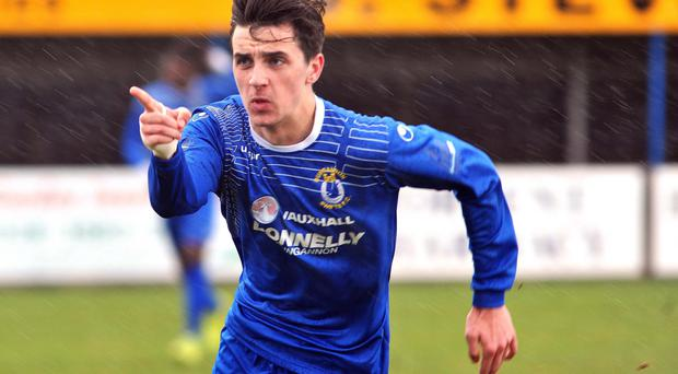 Wanted man: Jamie Glackin has attracted attention from clubs such as Drogheda, Crusaders, Derry City and Tranmere