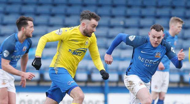 Solid platform: Mark Patton is delighted to see Dungannon Swifts' pre-season paying off