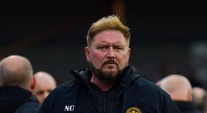Frustrating day: Carrick boss Niall Currie
