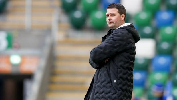 Relishing it: David Healy is loving the tense title fight