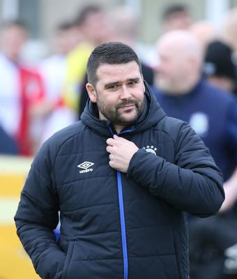Looking good: David Healy is happy with the Euro path unfolding in front of Linfield