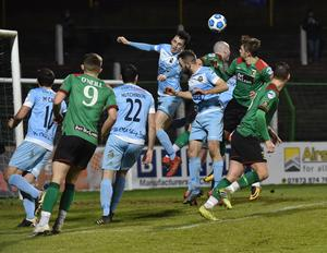Warrenpoint's game against Glentoran could be switched to The Oval