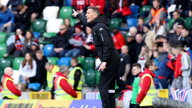 Top boss: January Manager of the Month Stephen Baxter directing his players